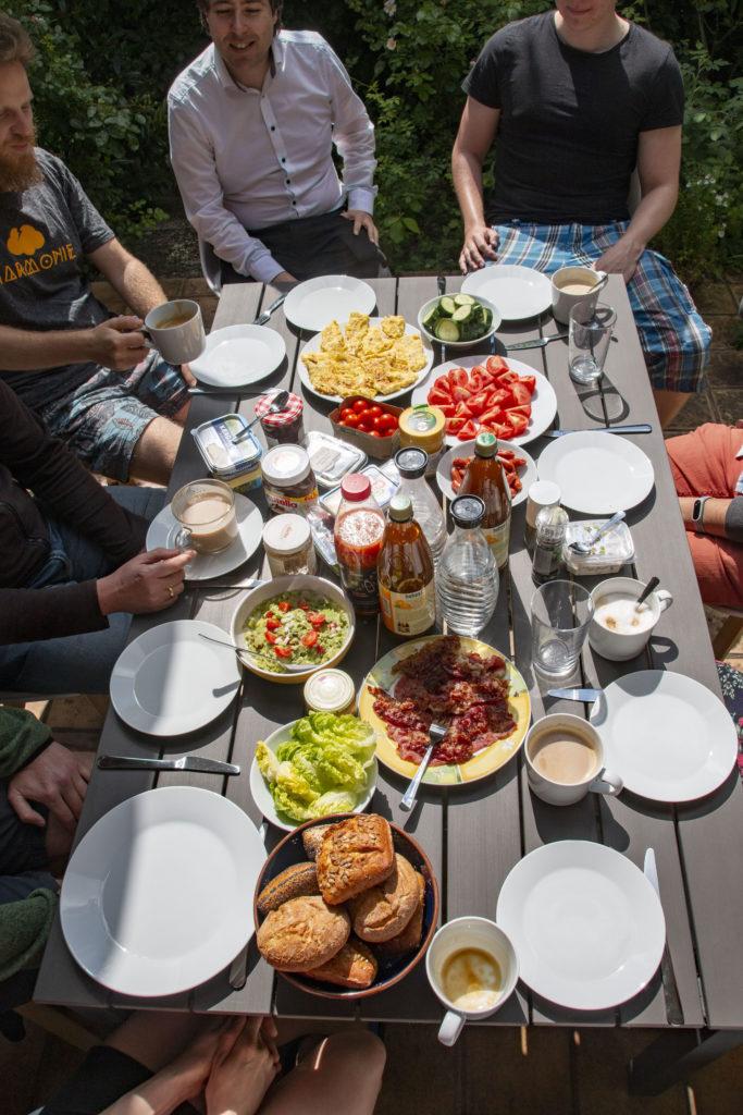 Shinefour Frühstück / Projektplanung