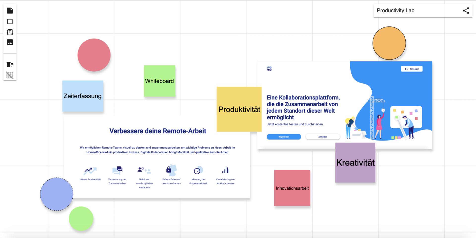 Online Whiteboard Screenshot