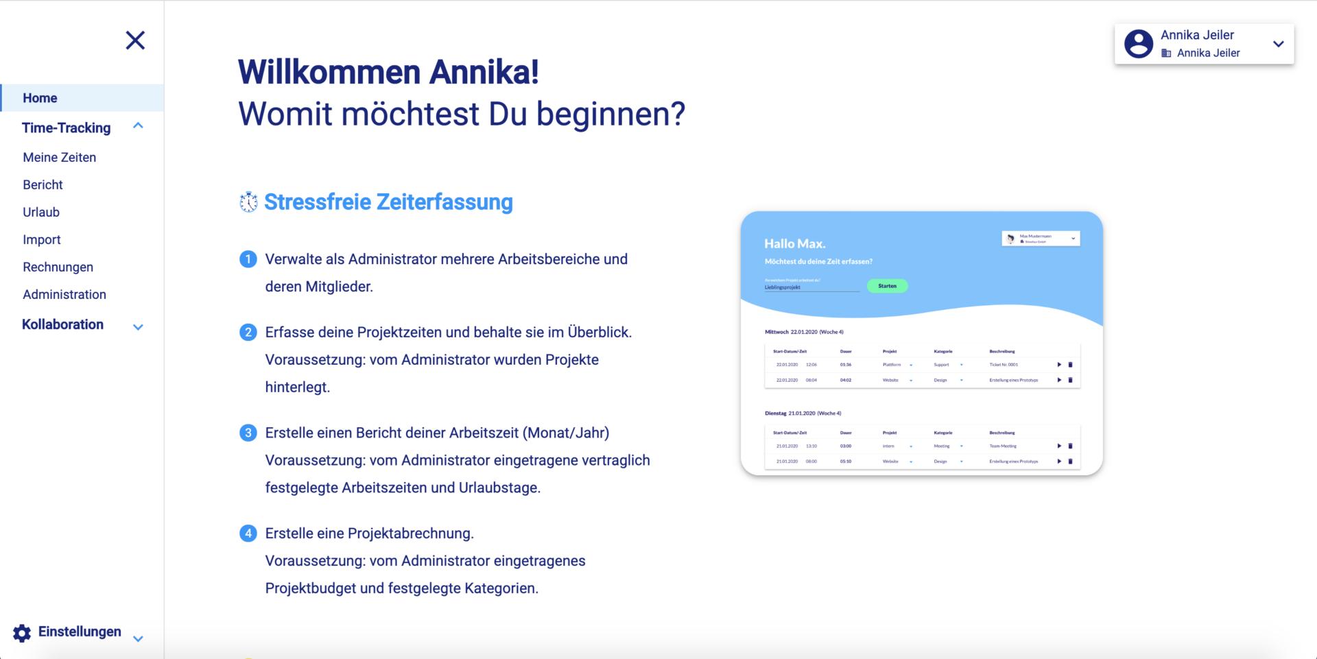 Kollaborationstool Screenshot